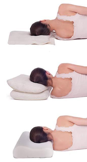posición almohada correcta